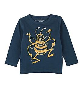 Kids' Dancing Bee Print Cotton T Shirt by Stella Mc Cartney