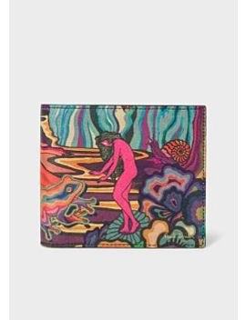 Men's 'dreamer' Print Leather Billfold Wallet by Paul Smith