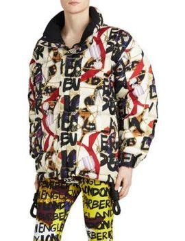 Tissington Graffiti Puffer Coat by Burberry