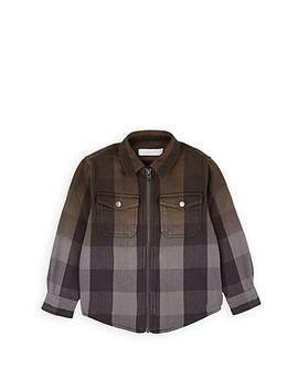 Kids' Plaid Cotton Shirt Jacket by Stella Mc Cartney