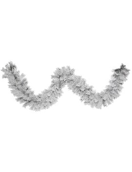 The Holiday Aisle 9' Flocked Alaskan Garland & Reviews by The Holiday Aisle