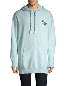 Elison Embroidered Cotton Hoodie by Burberry