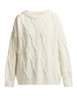 Jean Cable Knit Wool Sweater by Queene And Belle