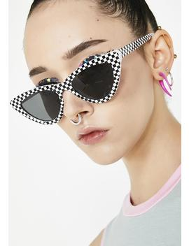 Fast Lane Lyfe Checkered Sunglasses by Joia