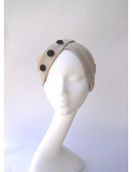Cloche Hat  Turban Fur Felt Melusine Vintage Style 1930' 1940' Color Alabaster End Black by Etsy