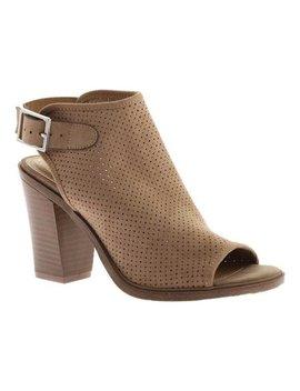 Women's Portland Boot Company Nikki Perforated Peep Toe Bootie by Portland Boot Company