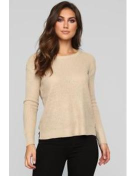 Everything That I Need Sweater   Taupe by Fashion Nova