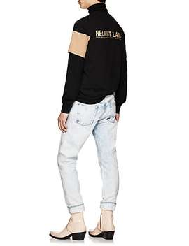 Band Logo Cotton Jersey T Shirt by Helmut Lang