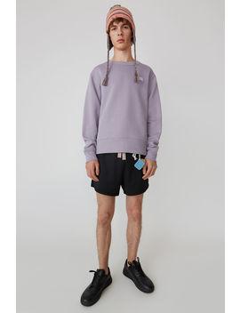 Regular Fit Sweatshirt Mauve Purple by Acne Studios
