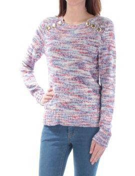 Kensie $79 Womens New 1331 Blue Knitted Long Sleeve Jewel Neck Sweater Xs B+B by Kensie
