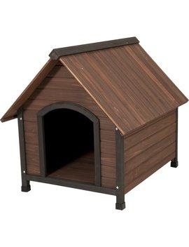 Petmate Aspen Pets Ruff Hauz Wood Peak Dog House & Reviews by Petmate