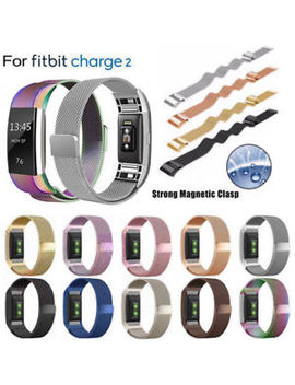 For Fitbit Charge2 Strap Replacement Milanese Band Metal Stainless Steel Magnet by Ebay Seller