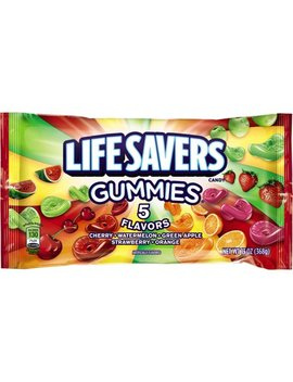 (3 Pack) Life Savers, 5 Assorted Flavors Chewing Gummy Candy, 13 Oz by Hard Candy