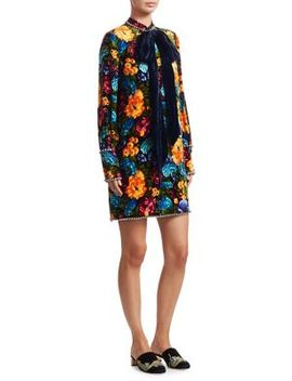 Embellished Floral Dress by Gucci
