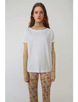 Boxy Fit T Shirt Optic White by Acne Studios