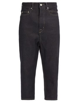 Collapse Mid Rise Cropped Jeans by Rick Owens