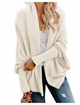 Imily Bela Womens Kimono Batwing Cable Knitted Slouchy Oversized Wrap Cardigan Sweater by Imily Bela
