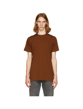 Brown Level T Shirt by Rick Owens