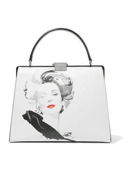 + David Downton Brooke Printed Leather Tote by Michael Kors Collection