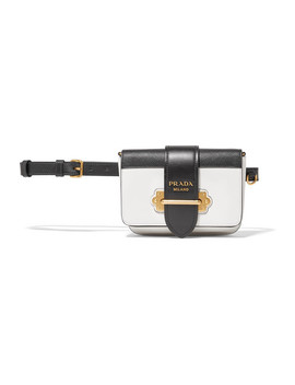 Cahier Smooth And Textured Leather Belt Bag by Prada