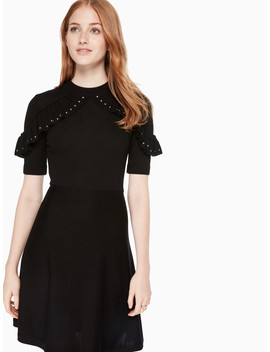Ruffle Studded Sweater Dress by Kate Spade