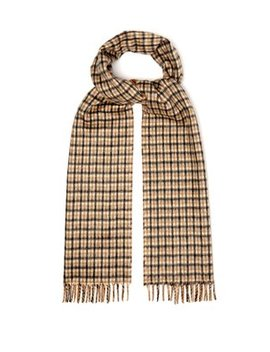 Reversible Checked Silk And Cashmere Blend Scarf by Prada
