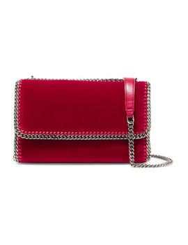 The Falabella Velvet Shoulder Bag by Stella Mc Cartney