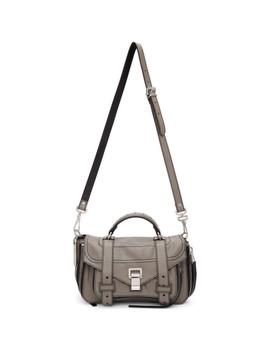 Grey Ps1+ Tiny Zip Messenger Bag by Proenza Schouler