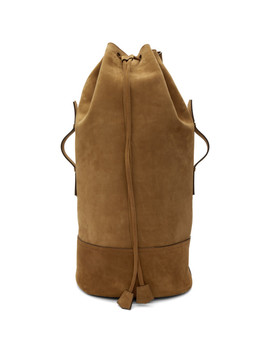 Brown Military Backpack by Ami Alexandre Mattiussi