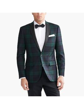Tuxedo Jacket In Black Watch Plaid by J.Crew