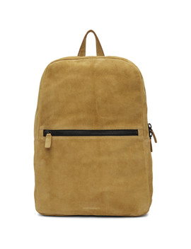 Tan Suede Simple Backpack by Common Projects