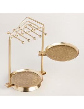 Gold Dish Swivel Jewelry Stand by World Market