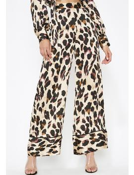Catty Chic Satin Pants by Essue