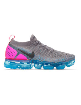 Grey & Blue Air Vapormax Flyknit 2 Sneakers by Nike