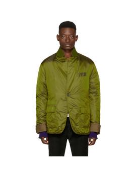 Green Nylon Insulted Mac Jacket by Haider Ackermann