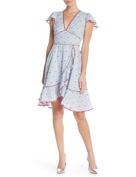 Floral Embroidered Ruffle Dress by Marc Jacobs