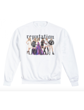 Taylor Swift White Pullover Reputation Sweatshirt Brand New Size L Very Rare by Taylor Swift