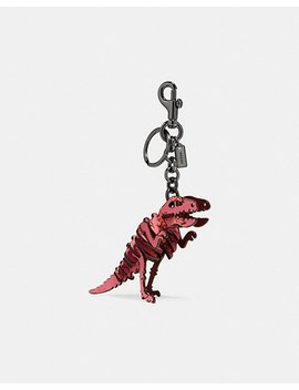 Small Printed Rexy Bag Charm by Coach