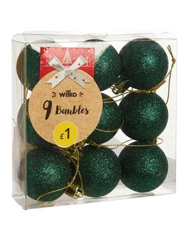 Wilko Christmas Alpine Home Bauble Red And Green  Assorted 9pk Wilko Christmas Alpine Home Bauble Red And Green  Assorted 9pk by Wilko