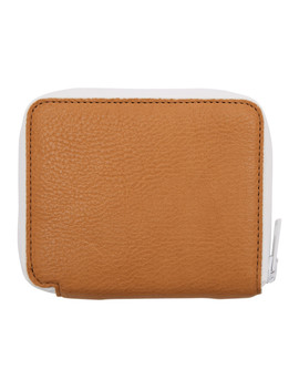 Brown & White Zip Around Wallet by Marni