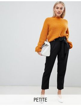 Y.A.S Petite Straight Leg Trouser With Belt Detail by Y.A.S. Petite