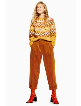 Corduroy Button Trousers by Topshop