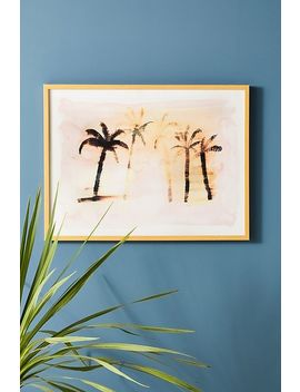Faded Palm Wall Art by Artfully Walls