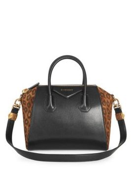 Leopard Suede & Leather Antigona Bag by Givenchy