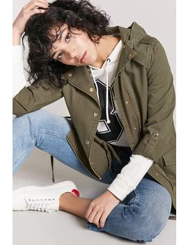 Drawstring Utility Jacket by Forever 21