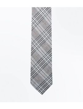 Light Grey Prince Of Wales Tie by New Look