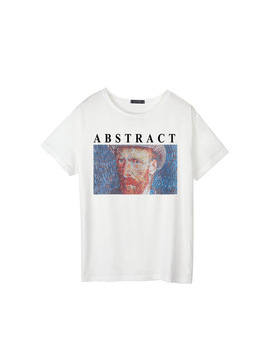 New Women's Casual Fashion Large Size Summer Painting Van Gogh Interesting Short Sleeved Prints Tops Tees Harajuku T Shirt by Zsiibo
