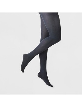 Women's 50 D Opaque Tights   A New Day™ Navy by A New Day