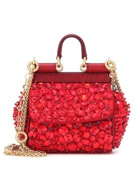 Micro Sicily Embellished Shoulder Bag by Dolce & Gabbana