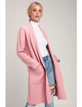 Nena Pink Sweater Coat by Lulu's